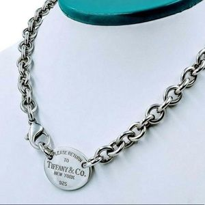 Tiffany Oval Tag Necklace